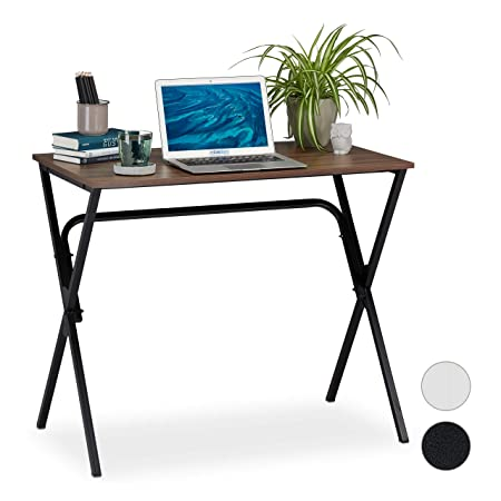 Relaxdays Escritorio Basic, Compacto, Home Office, Mueble de ...