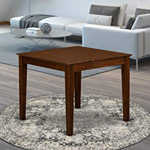 East West Furniture OXT-AWA-T Table, Square
