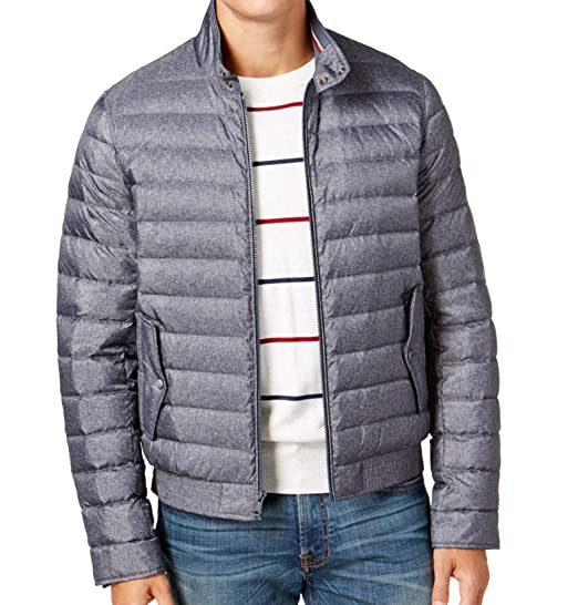 bc2ce0a3 Tommy Hilfiger Down & Feather Cold Stop Puffer Jacket (Grey Heather, X-Large