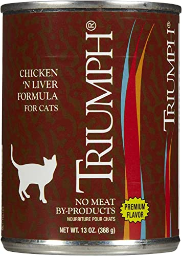Triumph Canned Chicken Liver Cat Food 13-oz, case of 12