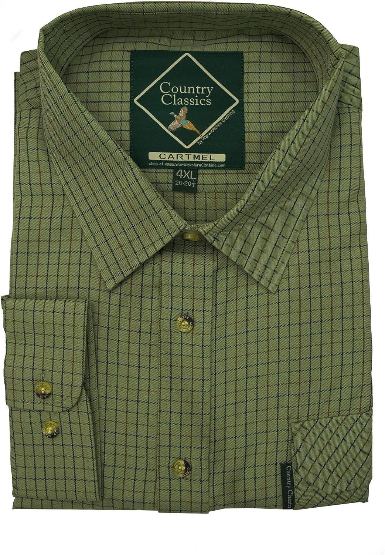 Country Classics – Hombre país Check Shirt – Heavy Weight – Calidad – Fácil Cuidado, Todo el año, Color Cartmel-Green, tamaño XXXXL: Amazon.es: Ropa y accesorios