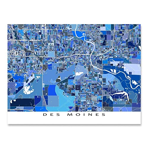 Amazon.com: Des Moines Map Print, Iowa USA, Map Street Art ... on us map raleigh, us map philadelphia, us map memphis, us map hartford, us map seattle, us map phoenix, us map savannah, us map detroit, us map providence, us map indianapolis, us map minneapolis, us map omaha, us map new york city, us map milwaukee, us map little rock, us map miami, us map louisville, us map iowa, us map las vegas, us map houston,