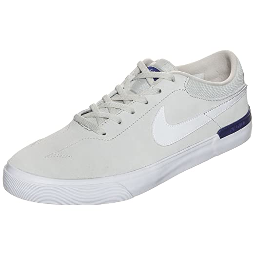 Nike SB Koston Hypervulc Suede Skate Shoe, Light Bone/White-Deep Night,
