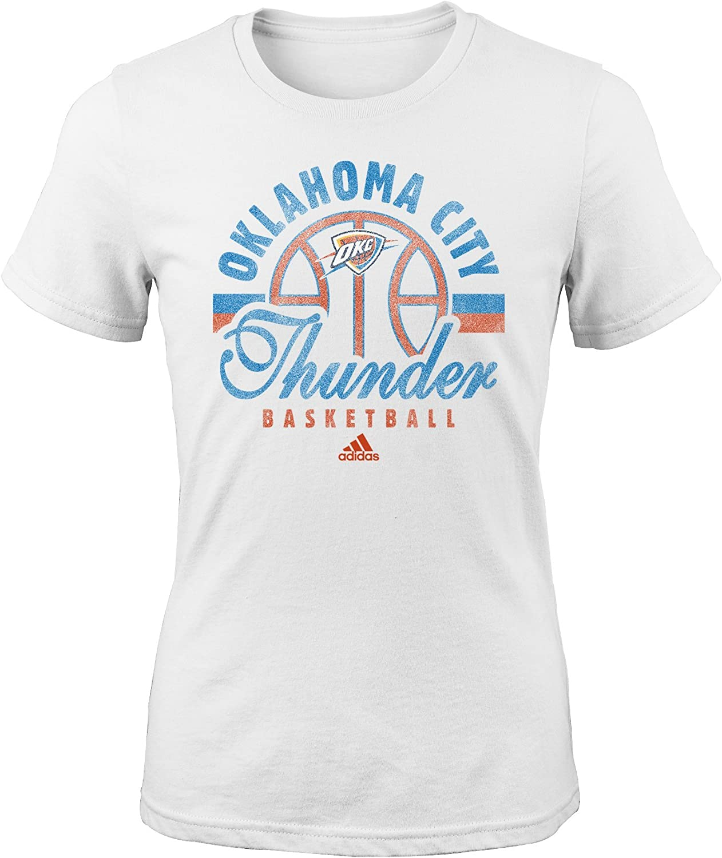 NBA Oklahoma City Thunder Girls Classic Basketball Arch Short Sleeve Tee White Large 14