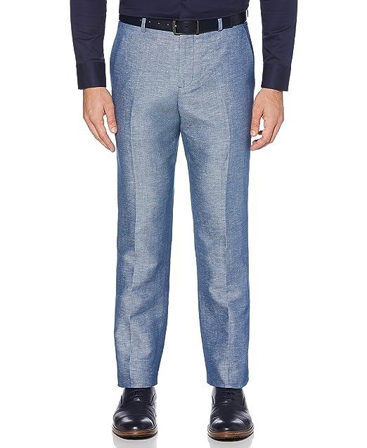 Amazon.com: Perry Ellis - Pantalones de mezcla de lino para ...