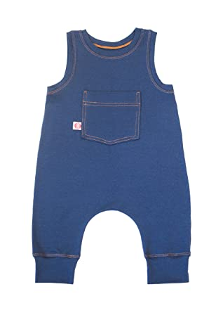 64a423ee797c Cozy Cocoon Sleeveless One-Piece Infant Baby Romper - Blue Jean Baby - Made  in