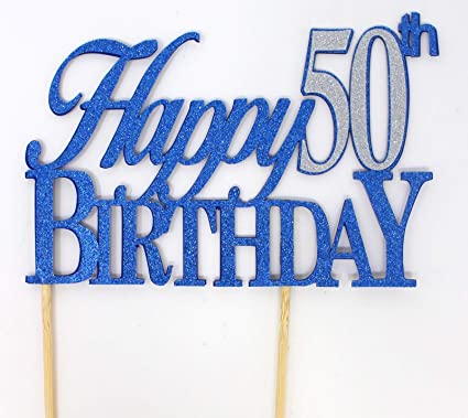 Amazon All About Details Happy 50th Birthday Cake Topper1pc
