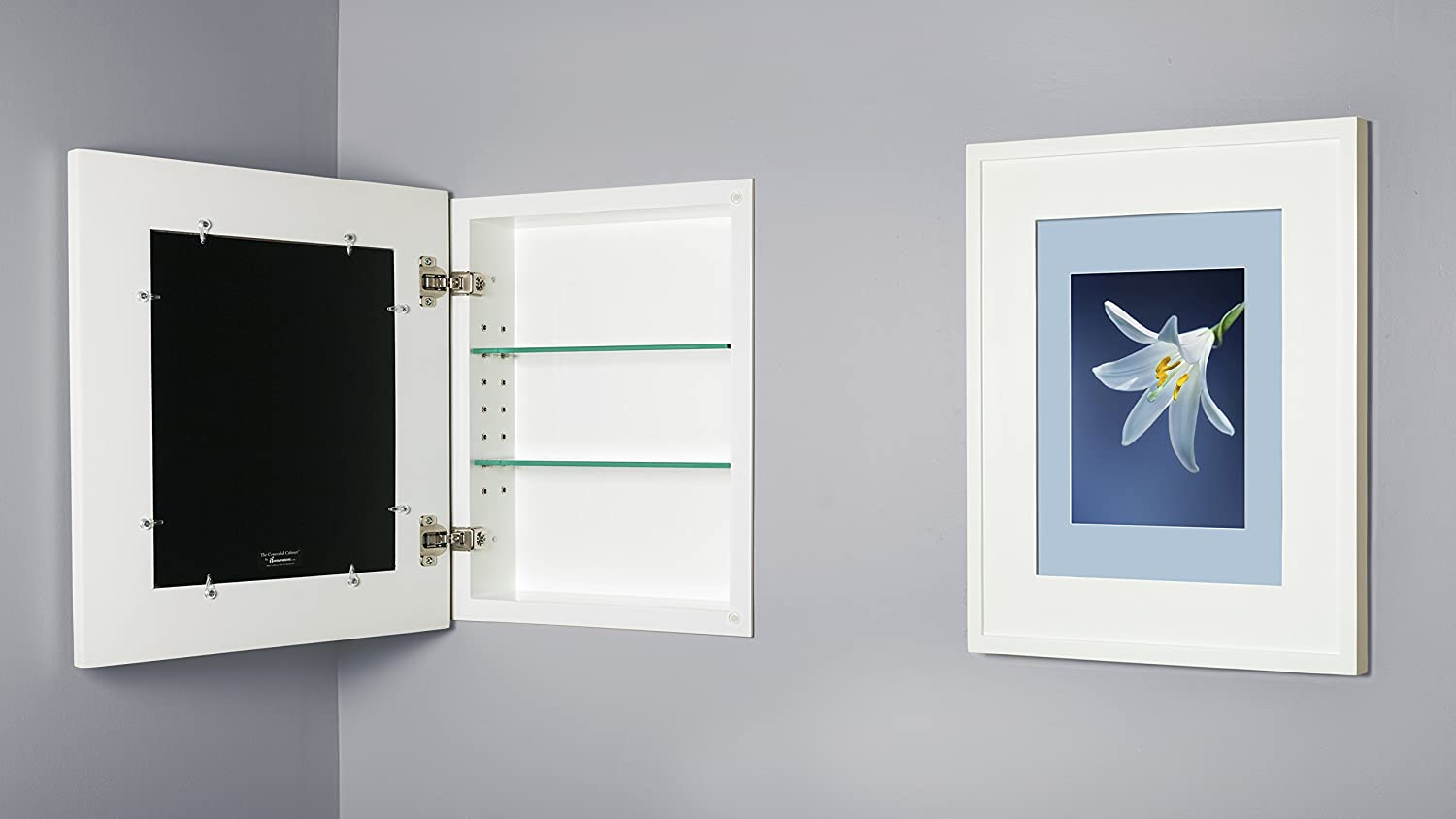 Amazon.com: 13x16 White Concealed Cabinet (Regular), a Recessed ...