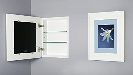 Marvelous 13x16 White Concealed Cabinet (Regular), A Recessed Mirrorless Medicine  Cabinet With A Picture