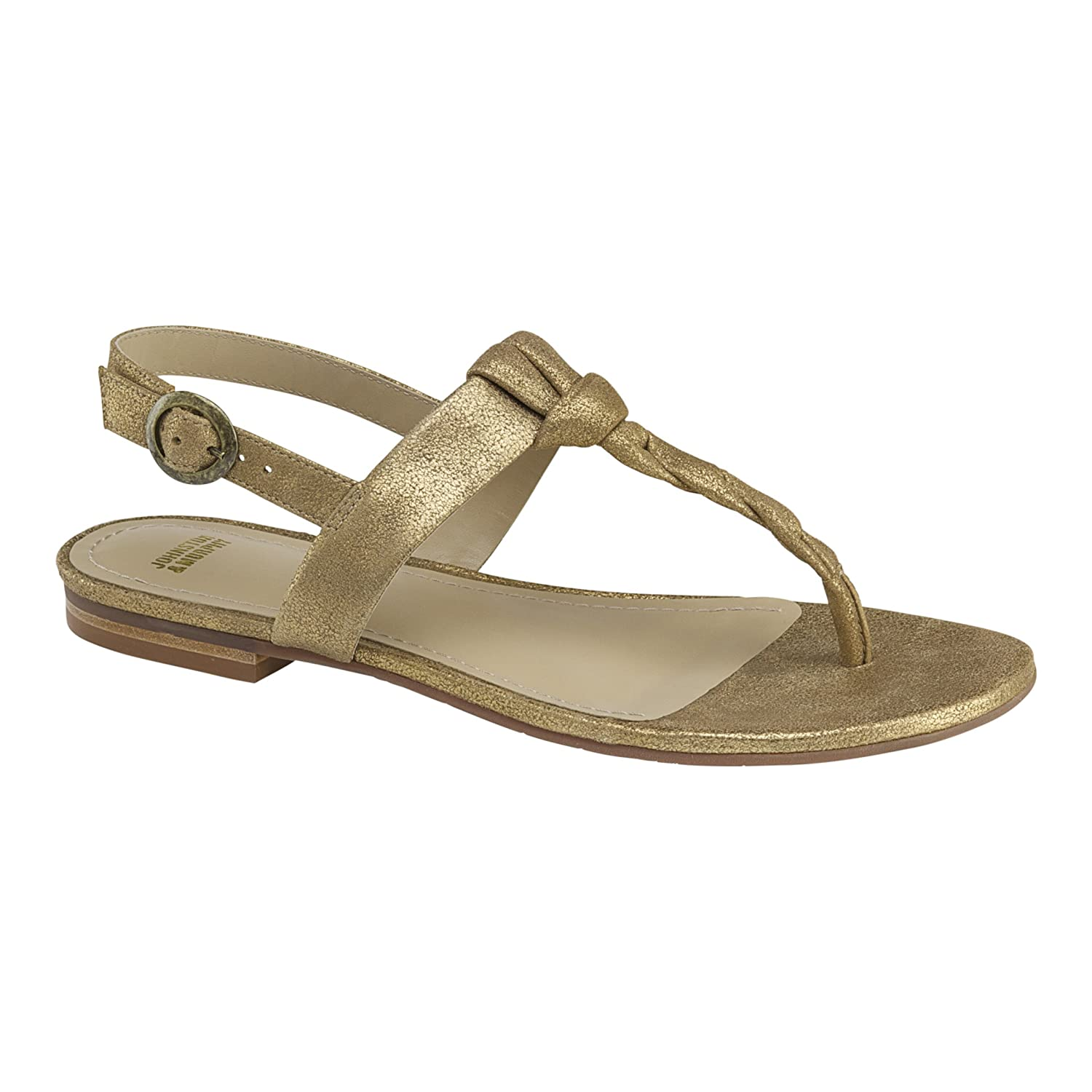 Johnston & Murphy Women's Holly Dress Sandal B01KYQT21M 7.5 M US|Gold