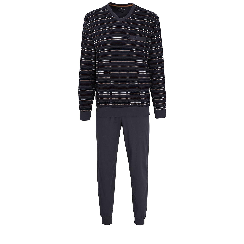 Götzburg Herren Nachtwäsche Zweiteiliger Schlafanzug, Pyjama lang, aus aus aus Baumwolle B07CYS1W5W Schlafanzüge Angemessener Preis 58abd2