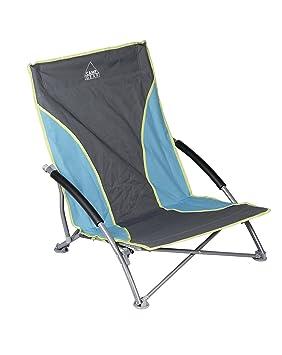 Camp Gear Unisex CA Playa Silla Plegable compacta, Azul ...