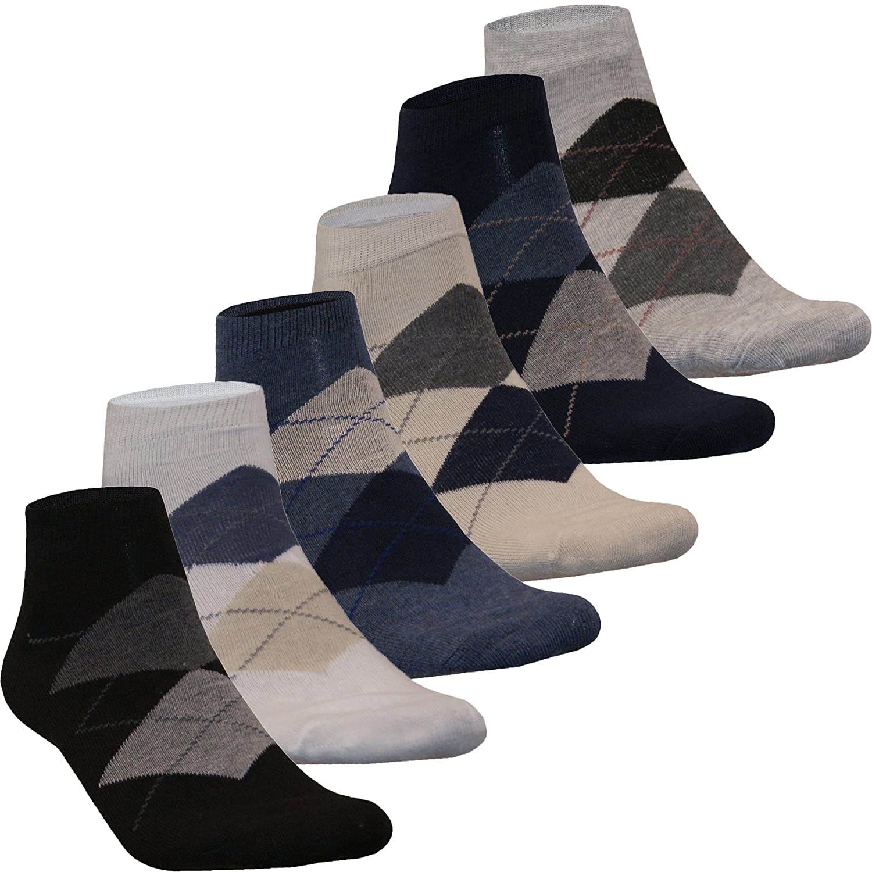 12 24 Paar Sneaker Socken Kurzsocken Füßlinge Herren Karo Motiv Baumwolle Muster Farbig von SGS