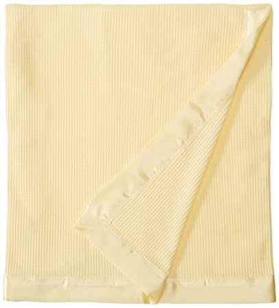 Amazon.com   Thermal Waffle Weave Baby Blanket with Satin Nylon Trim  (Yellow)   Baby ea49d08cd