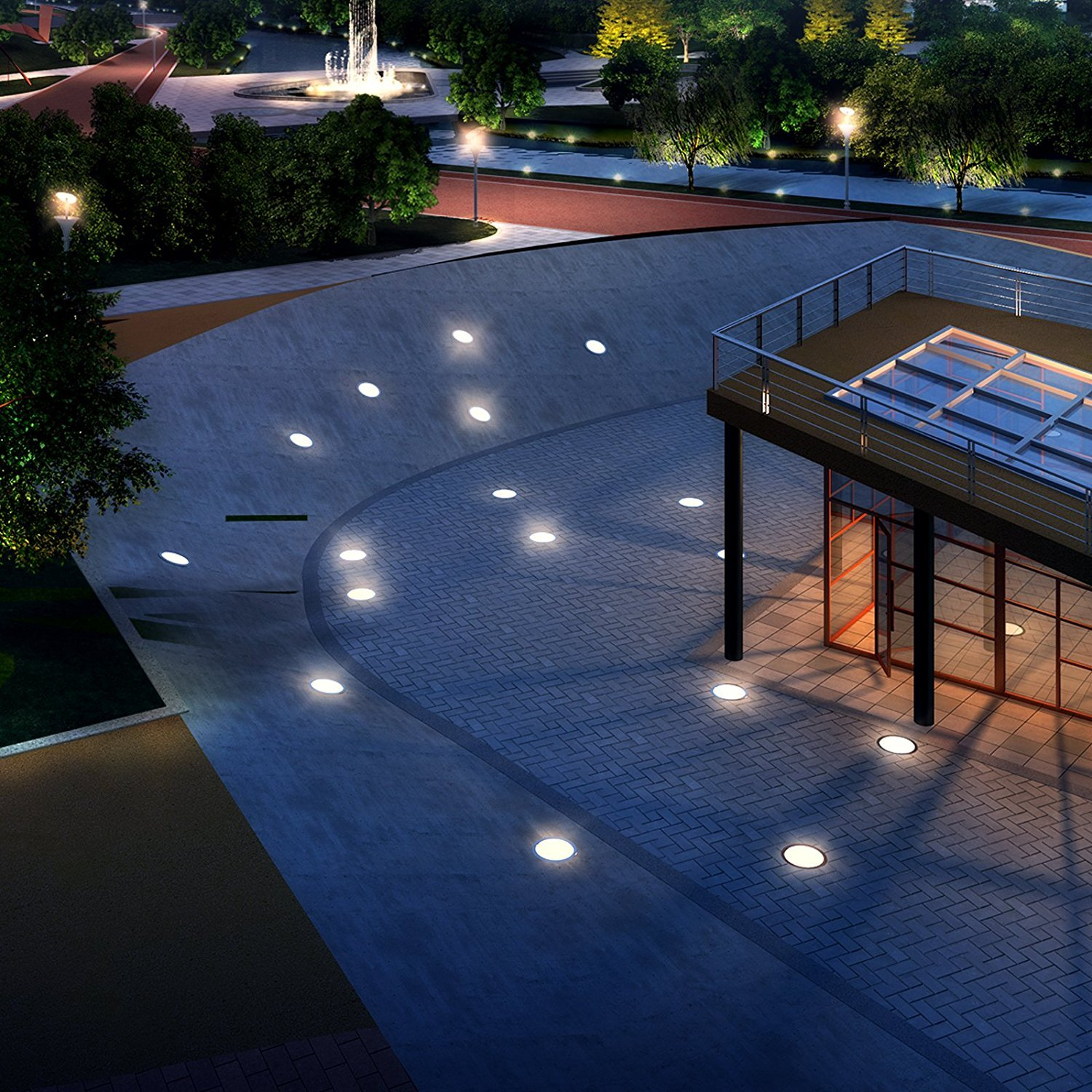 MILISO 3W LED Underground Path Light Yard Garden Landscape In-ground Well Lights High Power Outdoor Decorative Spotlight AC/DC 12V Low Voltage White by MILISO (Image #3)