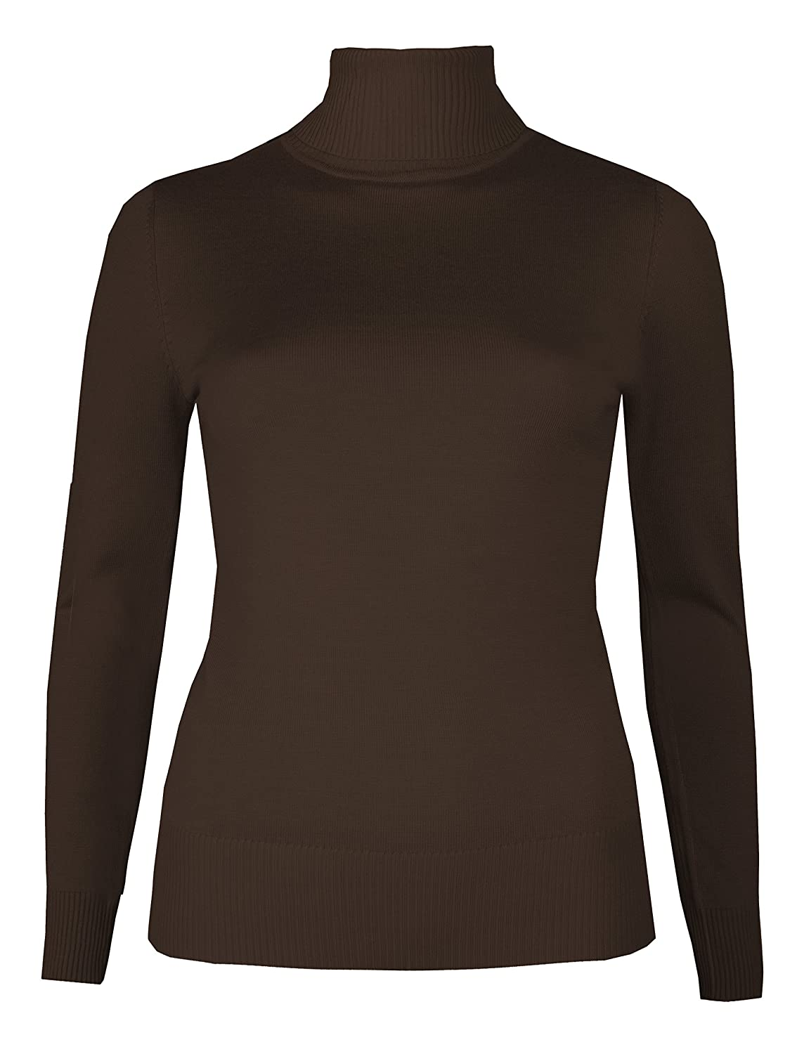 Brody & Co. Womens Roll Necks Jumpers Plain Fine Knit Polo Necks Sweaters Winter Tops