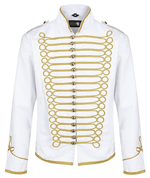 Amazon.com: Ro Rox Military Steampunk Hussar Parade Jacket ...