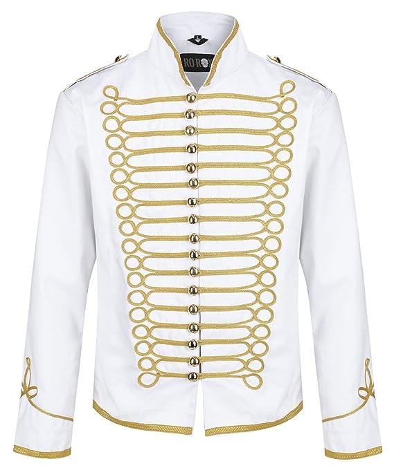 Ro Rox Military Steampunk Hussar Parade Jacket at Amazon Mens Clothing store:
