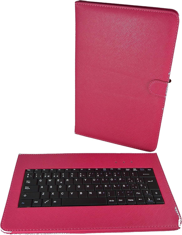 theoutlettablet® Funda con Teclado extraíble en español (Incluye Letra Ñ) para Tablet Bq Edison 3 10.1