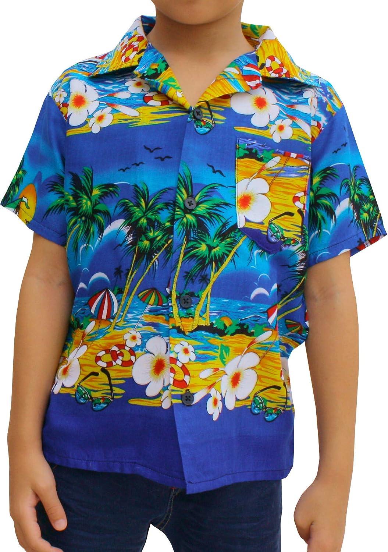 Full Funk Childrens Hawaiian Shirt in Summer Printed Rayon Seaside Beach Fun