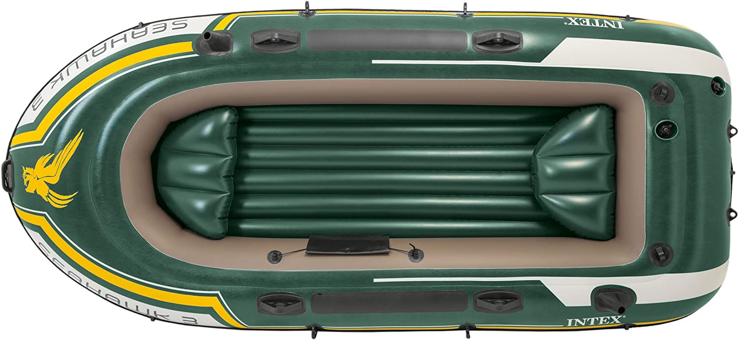 Amazon.com: Intex Seahawk 3, 3-person Inflatable Boat Set ...