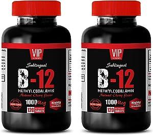 Energy Boosting Supplements - B-12 METHYLCOBALAMIN - 1000 MCG - Vitamin b12 sublingual - 2B (240 Tablets)