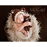 Tiger Bonnet and Stuffie Set Crochet Pattern - Sizes Newborn Baby Through Toddler 1-3 Years Included