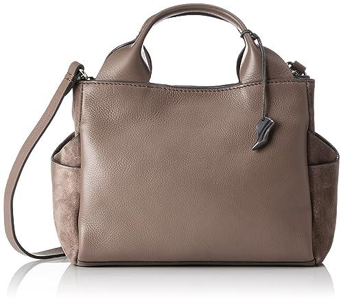 Clarks Talara Wish Henkeltasche Mujer, Gris (Taupe Leather), 13x20x32 cm (W