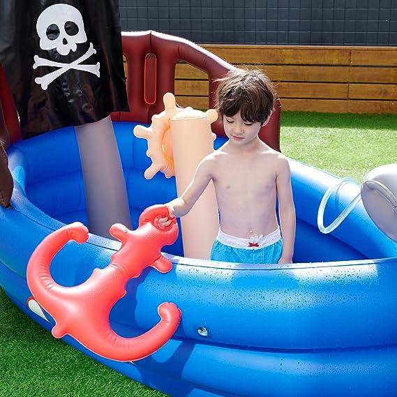 Teamson Kids Piscina Infantil Barco Pirata, Azul Negro: Amazon.es ...