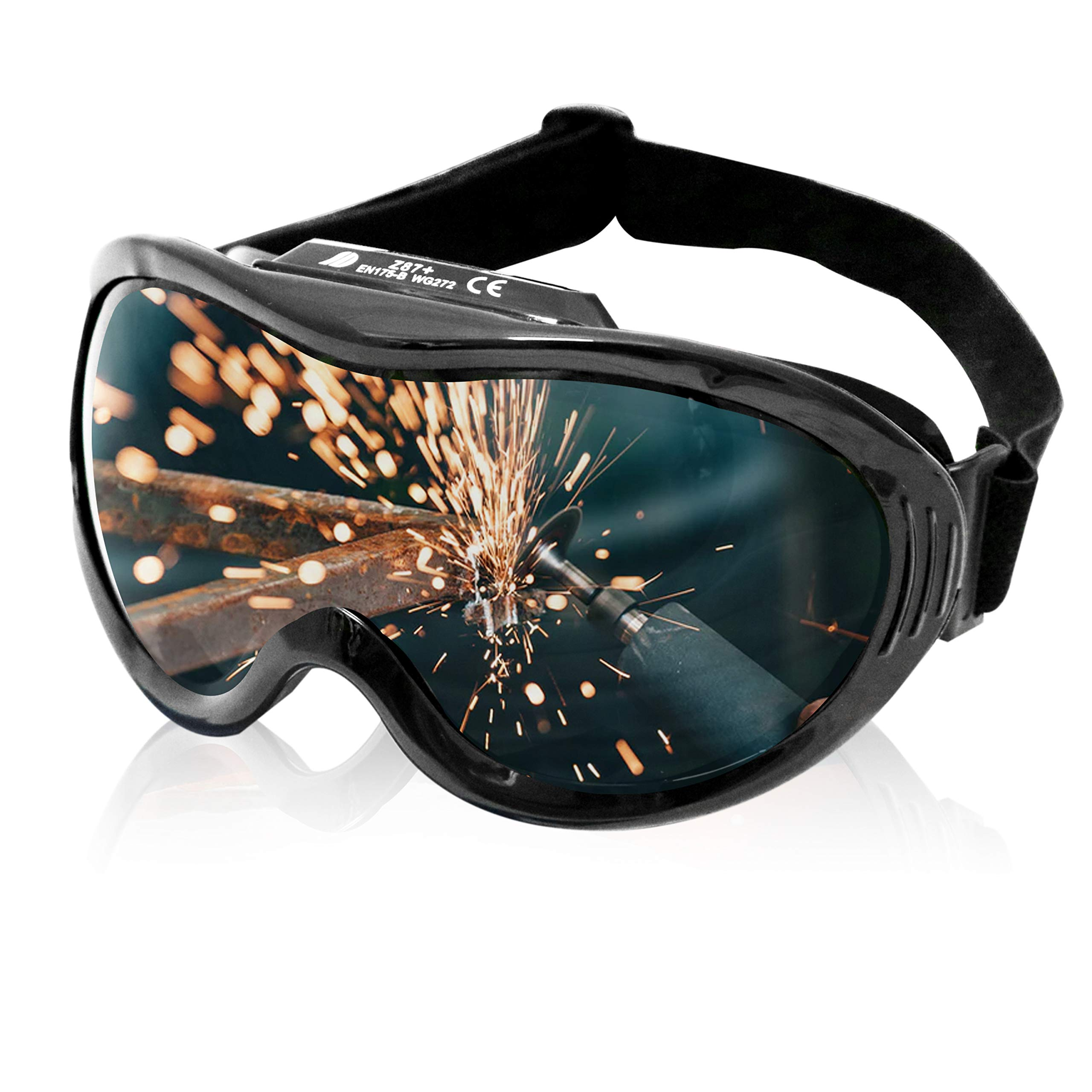 KwikSafety (Charlotte, NC) PIT VIPER ANSI Industrial (ANTI-FOG, ANTI-SCRATCH, Snug FIT) Welding Goggles Shade 5 | Ventilation Infrared Welding Torch Brazing Flame Cutting Gas Oxy-Acetylene Black