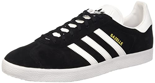 Adidas Originals Gazelle, Zapatillas Unisex Adulto, Negro (Utility Black/FTWR White/Gold Met.), 38 2/3 EU