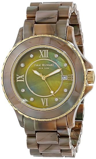 Isaac Mizrahi de las mujeres IMN38 C de camuflaje de cerámica dorado bisel embellecedor de tono de camuflaje reloj de pulsera de cerámica: Amazon.es: ...