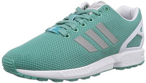 00b1fb96129fe adidas Women s Zx Flux Sneakers Green Size  4.5 UK