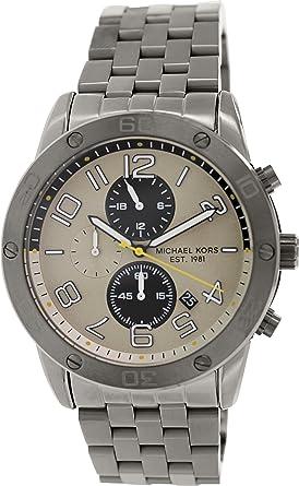 c4f4af7564ef03 Image Unavailable. Image not available for. Color: Michael Kors Men's  MK8349 Mercer Black Stainless Steel Watch