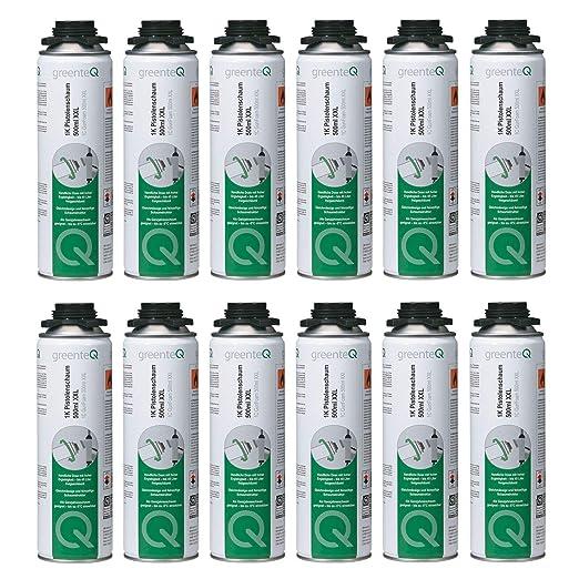 GreenteQ B2 - Espuma de poliuretano (12 unidades, 500 ml ...