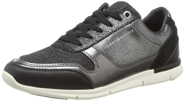 Tommy Hilfiger Sparkle Light Sneaker, Zapatillas para Mujer 42 EU|Negro (Black 990)