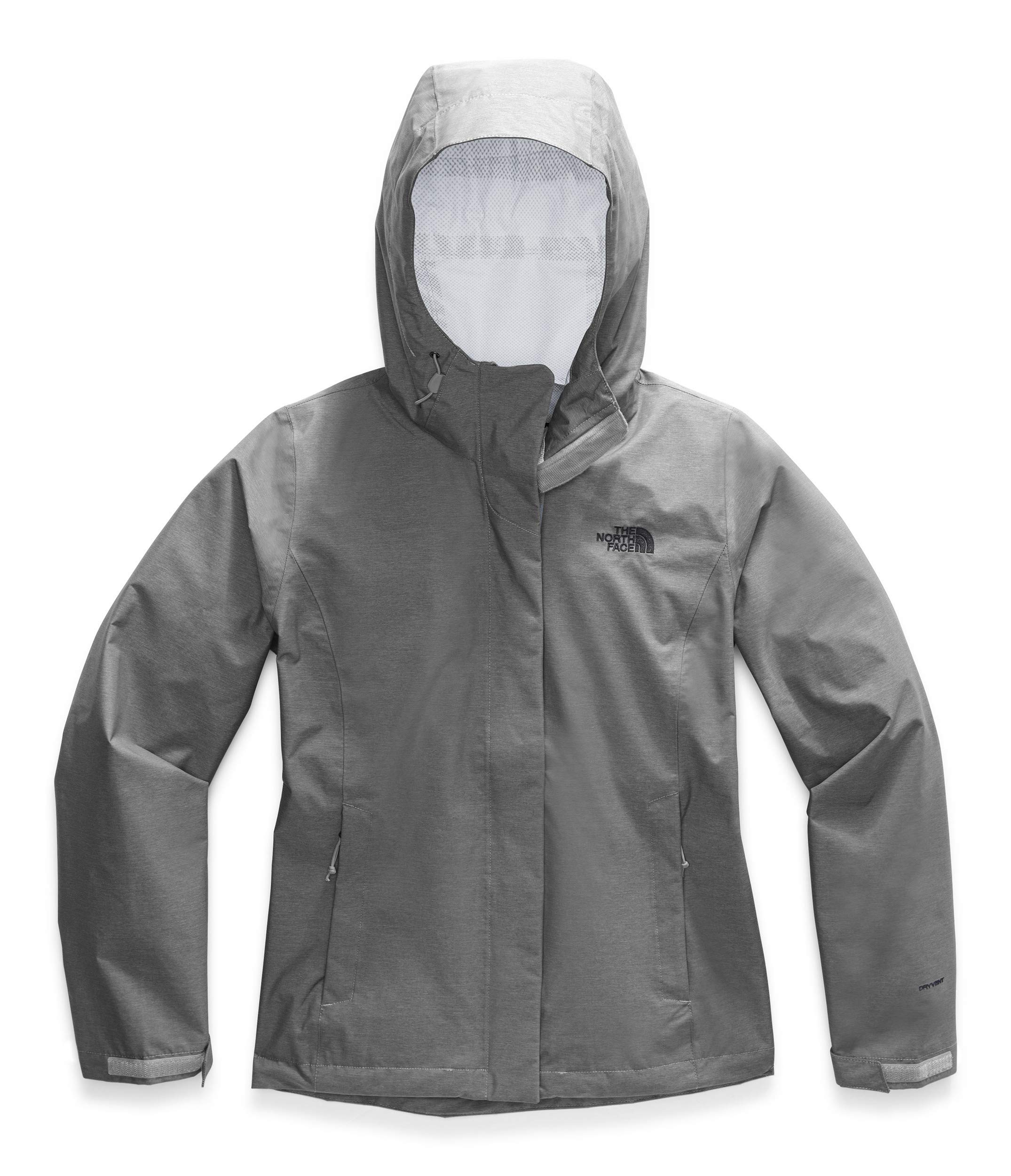 The North Face Women's Venture 2 Jacket, TNF Medium Grey Heather/TNF Black, S by The North Face