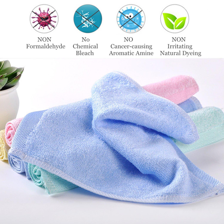 Toallitas para bebés Bambú orgánico natural, Toallas de cara para bebés - Extra suave para recién nacidos/Bebés/Niños/Adultos - Ultra suave de Leepem baby, ...