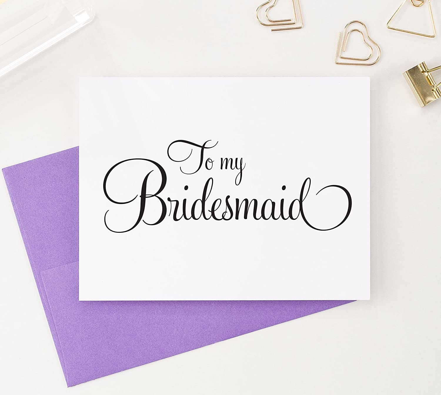 Amazon To My Bridesmaid Bridal Party Thank You Cards