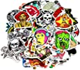 Nuoxinus Car Stickers [200pcs], Laptop Stickers Skateboard Luggage Bike Motorcycle Bumper Stickers, Snowboarding Guitar Helmet Phone Graffiti Decals Vinyls, Fashion Cool Unique Mix Lot Random Pack