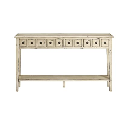 Incroyable Powell Furniture 16A8213C Sadie Cream Long Storage Console Table