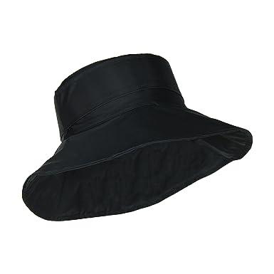 63203824803 Black Packable Bucket Rain Hat w  Buckle