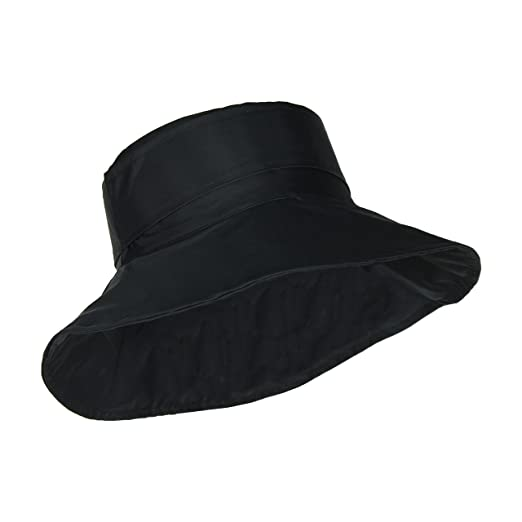 b9566623d56 Black Packable Bucket Rain Hat w  Buckle