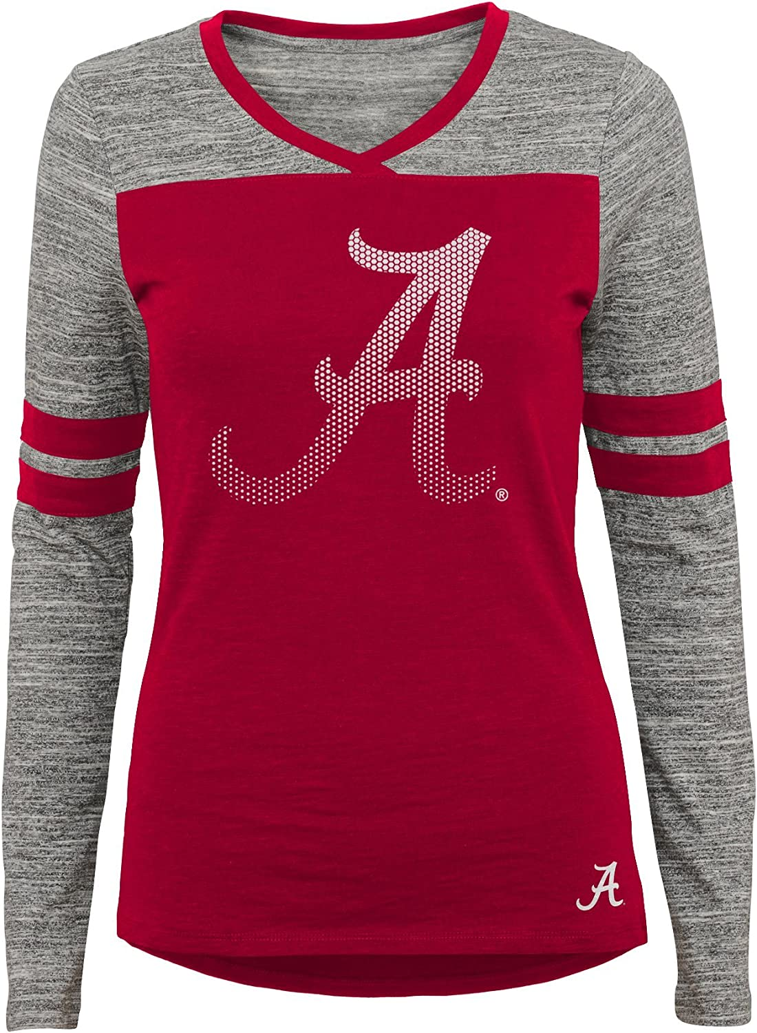X-Large 15-17 Team Color NCAA Alabama Crimson Tide Juniors Outerstuff Secret Fan Long Sleeve Football Tee