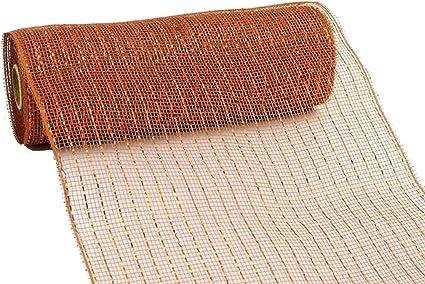 Pink Foil RE130122 10 inch x 30 feet Deco Poly Mesh Ribbon