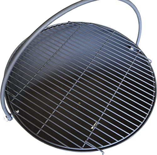 Titan 30 Cauldron Fire Pit Bowl with Grate and Chain