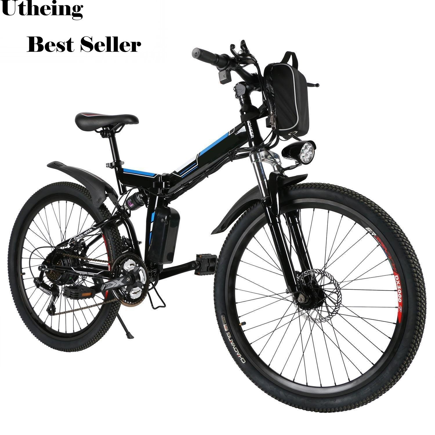 Best Electric Mountain Bike >> Amazon Com Utheing E Bike Folding Electric Mountain Bike 36v 250w