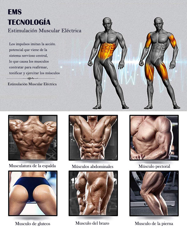 huasida Muscle Toner EMS Cintur/ón de tonificaci/ón Abdominal Unisex port/átil Equipo de Entrenamiento f/ísico para Abdomen Brazos y piernas Home Office Fitness