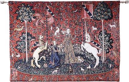 SIGNARE Tapisserie Coussin Licorne près de Lady Et Licorne