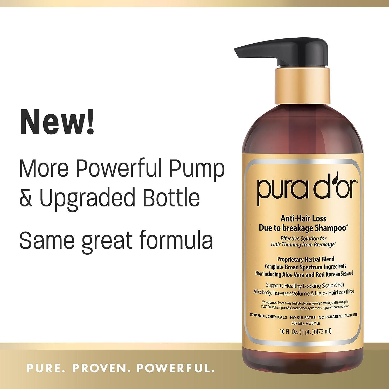 Amazoncom PURA DOR AntiHair Loss Shampoo Gold Label - Custom vinyl decal application fluidhow to make decal application fluidhair loss surgery